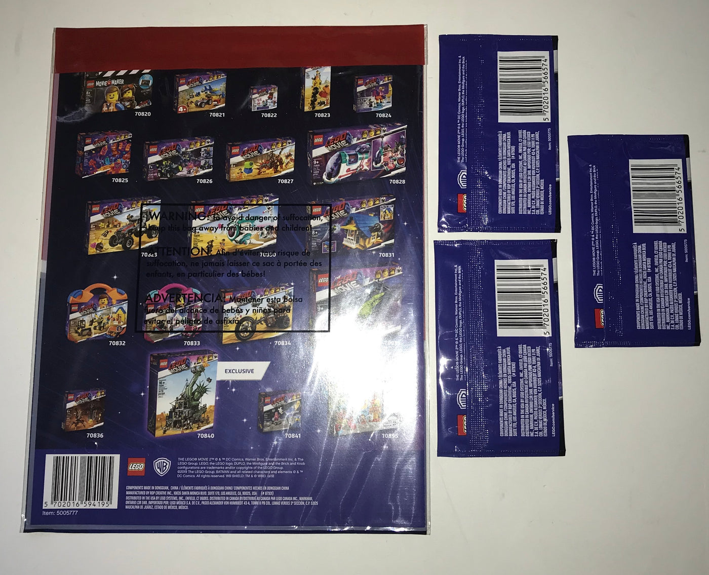 Lego Movie 2 Trading Card Collector Album 3 Packs Of Trading Cards