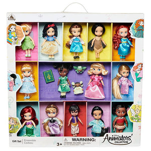 Disney Store Animators' Collection Mini Doll Gift Set 5'' New with Box