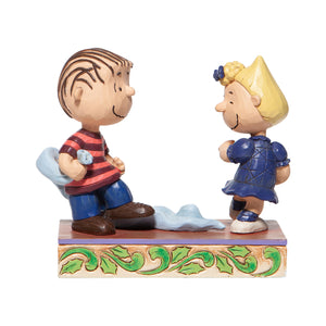 Jim Shore Peanuts Linus and Sally Dancing Figurine New with Box