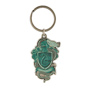 Universal Studios Harry Potter Slytherin Crest Metal Keychain New with Tags