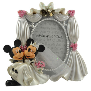 "disney parks mickey & minnie wedding 4""x6"" photo frame new with box"