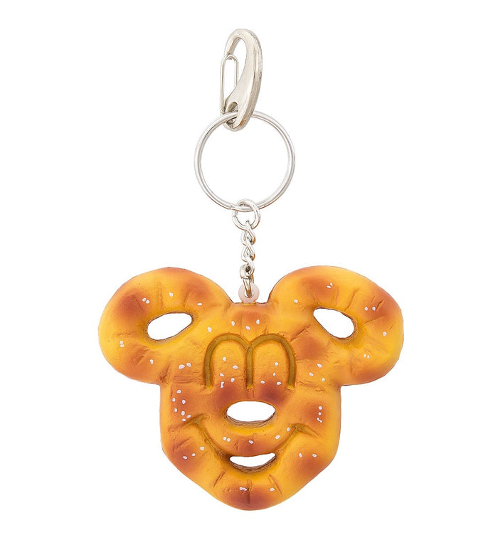 Disney Parks Mickey Mouse Pretzel Keychain New with Tags