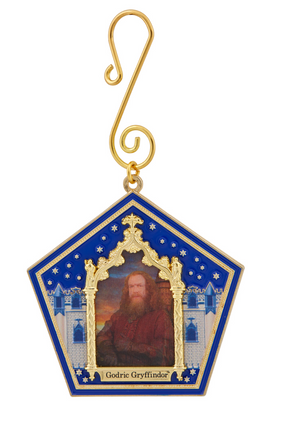 Universal Studios Harry Potter Godric Gryffindor Wizard Card Ornament New w Tag