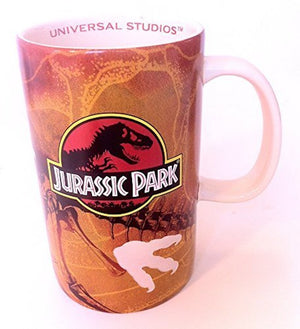 universal studios jurassic park dinosaur footprints ceramic coffee mug new