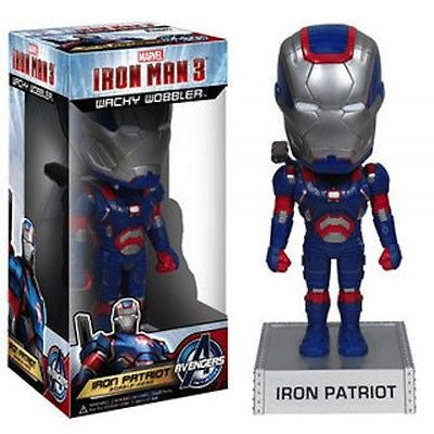 Disney Funko Marvel Iron Man Movie 3 Iron Patriot Wacky Wobbler Vinyl New With Box