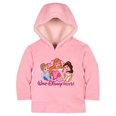 DISNEY WALT DISNEY WORLD PRINCESS HOODIE FOR BABY 12 MONTH NEW WITH TAG