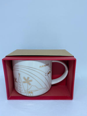 Starbucks You Are Here Holiday Hawaii Ceramic Coffee Mug New With Box