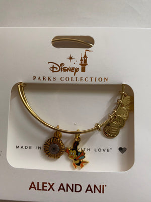 Disney Flower and Garden Festival 2020 Spike Alex and Ani Gold Bracelet New