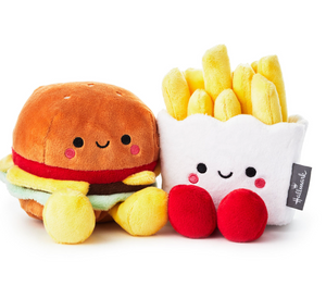 Hallmark Valentine Better Together Burger and Fries Magnetic Plush New with Tag