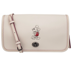 Disney X Coach Mickey Penny Leather Crossbody Bag New with Tag