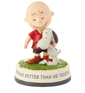 Hallmark Peanuts Charlie Brown Snoopy Nothing Better Than Us Together Figurine