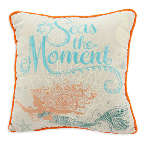Disney Parks Nautical The Little Mermaid Ariel Art Nouveau Throw Pillow New