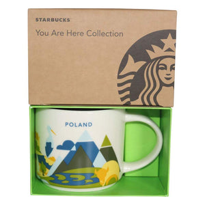 Starbucks You Are Here Collection Poland Ceramic Coffee Mug New with Box