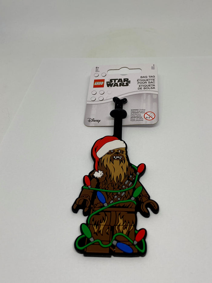Lego Christmas Star Wars Santa Chewbacca Silicone Luggage Bag Tag New with Tags