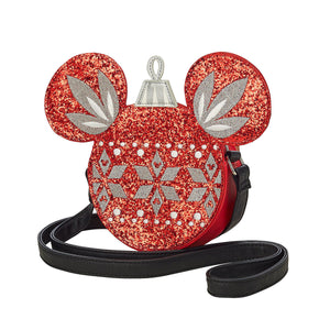Disney Parks Mickey Mouse Icon Christmas Ornament Crossbody Bag New with Tags