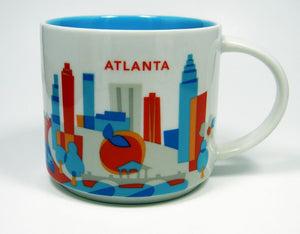 Starbucks You Are Here Atlanta Georgia Ceramic Coffee Mug New With Box