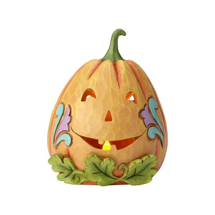 Jim Shore Halloween Lit Jack-O-Lantern Resin Figurine New with Box
