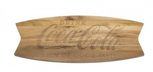Authentic Coca Cola Coke Arciform Wood Fishtail Cutting Board New