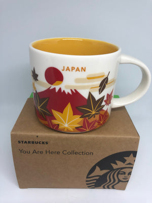 Starbucks You Are Here Collection Japan Fall Ceramic Coffee Mug New with Box