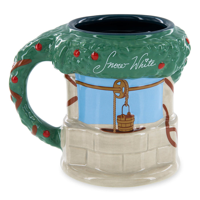 Disney Parks Snow White Wishing Well Sculpted Leafy Handle Ceramic Mug