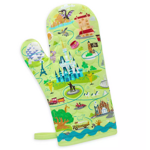 Disney Parks Walt Disney World Map Oven Mitt New with Tags
