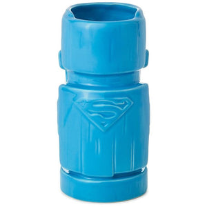 Hallmark DC Comics Superman Man of Steel Ceramic Tiki Mug 10 oz New