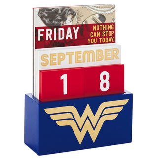 Hallmark DC Comics Wonder Woman Perpetual Calendar New