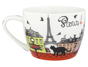 Disney Parks Epcot Paris Cats Porcelain Cappuccino Mug New