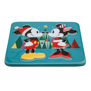 Disney Chear Mickey and Minnie Mouse Holiday Trivet New