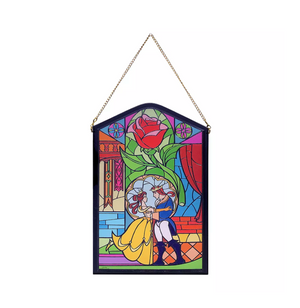 Disney Beauty and the Beast Belle Beast Stained Window Wall Décor New with Tag