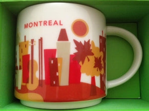 Starbucks You Are Here Montreal Canada Ceramic Coffee Mug New With Box