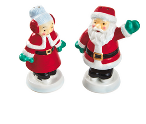 Hallmark Christmas Santa and Mrs. Claus Salt and Pepper Shakers New