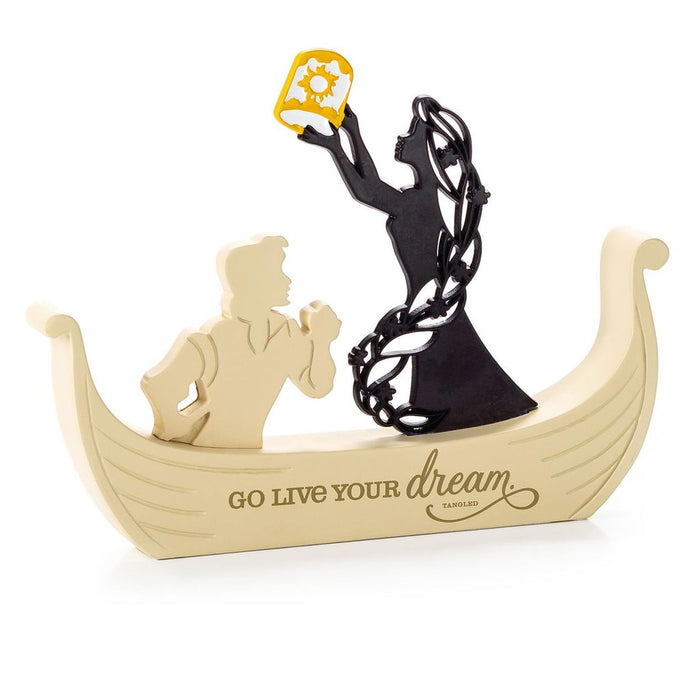 Hallmark Disney Tangled Rapunzel Go Live Your Dream Word Silhouette New