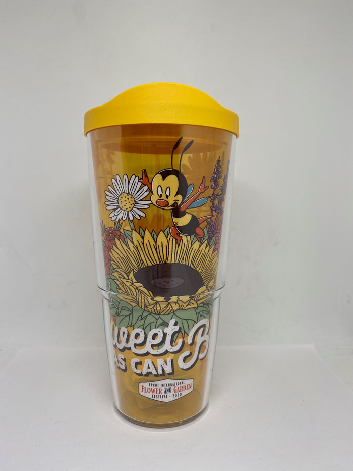 Disney Flower and Garden Festival 2020 Tervis Spike Tumbler Sweet as Can Bee New