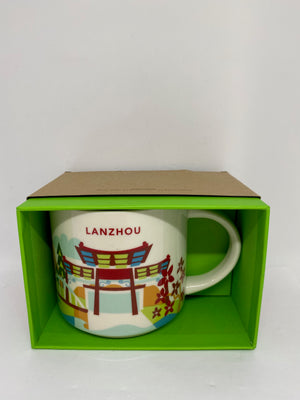 Starbucks You Are Here Collection Lanzhou China Ceramic Coffee Mug New With Box