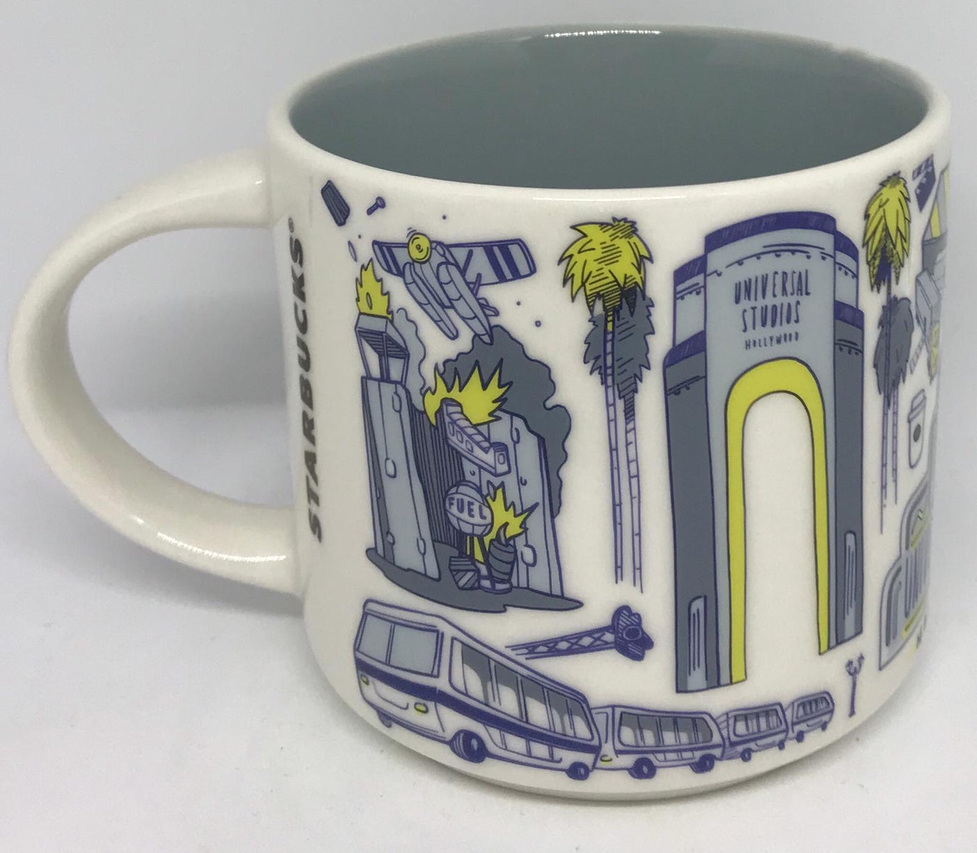 Starbucks Universal Studios Hollywood Been There Series Ceramic Mug Cup New
