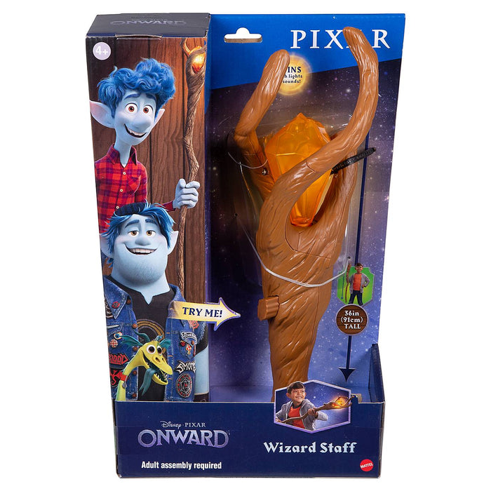 Disney Pixar Onward Wizard Staff with Phoenix Gem New