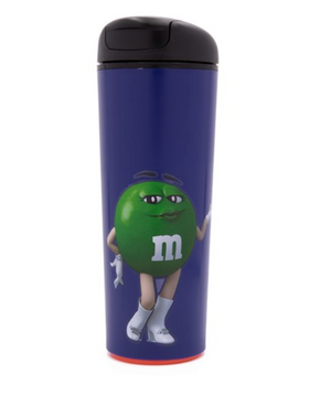 M&M's World Green Character Neverfall Purple Tumbler 16 oz New