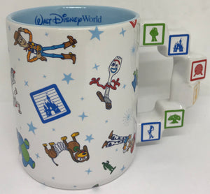 Disney Parks Walt Disney World 4 Parks Pixar Ceramic Coffee Mug New