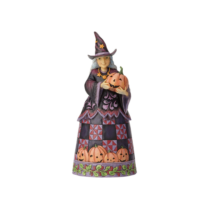 Jim Shore Halloween Witch with Pumpkin Resin Figurine New with Box