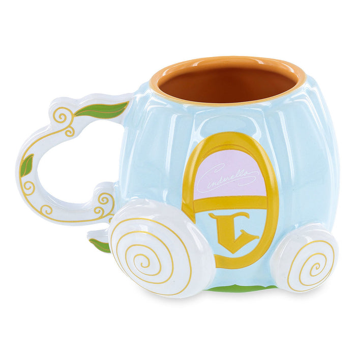 Disney Parks Cinderella Pumpkin Coach Filigreed Handle Ceramic Mug
