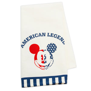 Disney Parks Mickey Americana Kitchen Towel Set New with Tags