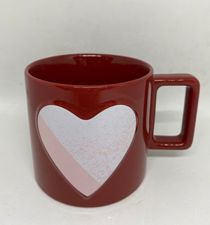 Starbucks Valentine 2021 Pink Heart Red Ceramic Coffee Mug New