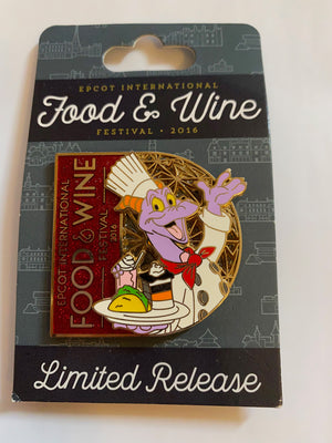 Disney Parks Food and Wine 2016 Figment Limited Pin New with Card