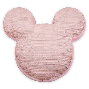 Disney Parks Mickey Icon Reversible Sequin Pillow Briar Rose Gold New with Tag