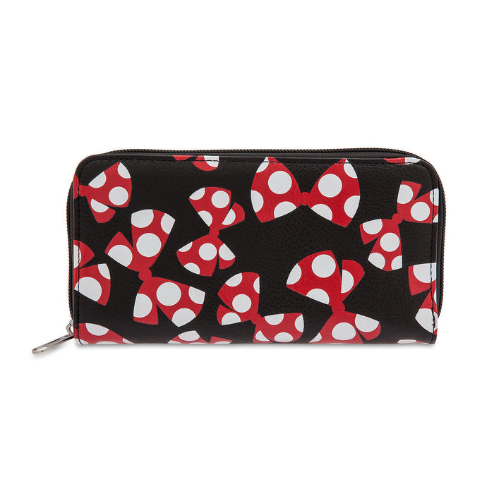 Disney Minnie Mouse Bow Wallet Polka Dot Bows Billfold Pockets New with Tags