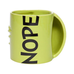 Department 56 Grinch Sculpted Hand Nope Coffee Mug New with Box