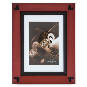 Disney Parks Mickey Mouse Icon Wood Photo Frame 5 x 7 New with Box