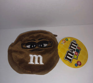 M&M's World Brown Character Coin Purse Plush New with Tags