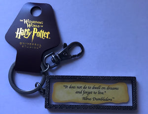 Universal Studios Harry Potter Albus Dumbledore Quote Keychain It does not do to